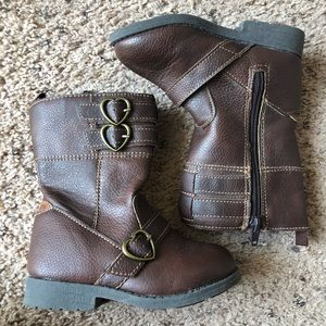 Carters toddler girl boots, size 7